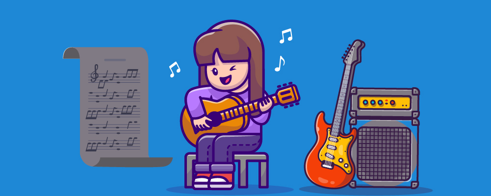 A girl Learning guitar and everything she needs to know